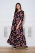 Платье Faufilure С859 черно-фиолетовый