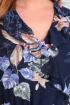 Платье Basagor 560 синий/цветы