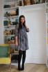 Платье LadisLine 1063 серый_принт