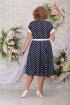 Платье Ninele 2315 синий_горох