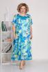 Платье Ивелта плюс 1688 голубой