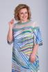 Платье Viola Style 0918 голубой