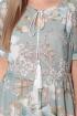 Платье LeNata 11116 цветы-на-ментоловом