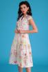 Платье Мода Юрс 2555 молочный_цветы