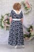 Платье Ninele 295 синие_цветы
