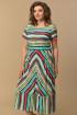 Платье Lady Style Classic 1860/1 полоски_зеленый