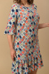 Платье Lady Style Classic 1866/4 ромбики+желтый