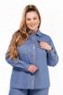 Рубашка Pretty 1222 голубой