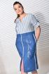Платье MALI 420-067 полоска+синий