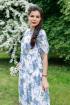 Платье YFS 0780-20 белый с принтом как на фото