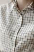 Рубашка Cherire Р0030 бежевый/зеленая-клетка