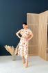Платье,  Пояс TVIN 8038 цветы_на_белом