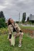 Рубашка Lady Smile 3001-3 бежево-коричневый
