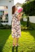 Платье Ivera 666 крем, серый, розовый