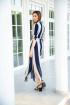 Платье Ivera 501 бежевый, синий
