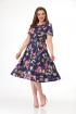 Платье Anelli 217 синий_цветы