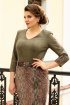 Платье Мода Юрс 2516 зеленый_питон