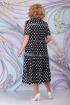 Платье Ninele 7276 синий_горох