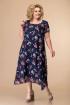 Платье Romanovich Style 1-1332 синие_букетики