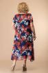 Платье Romanovich Style 1-1332 синий/красные_пионы