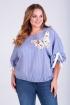 Блуза Таир-Гранд 62378 голубая-полоска