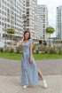 Платье Totallook 18-4-41 голубой