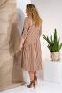 Платье Liliana 852 коричневый+молочный