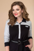 Платье Romanovich Style 1-2036 черный/серый