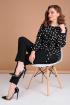 Блуза,  Брюки Liona Style 763 горох/черный