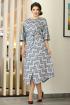 Платье Мода Юрс 2539 серый_бордо