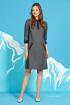 Платье Rami 5057 серый_с_бордо