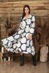 Платье Anastasia 503 синий/молочный