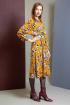 Платье Ivera 907 горчица, бежевый, черный