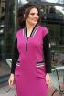 Платье Мода Юрс 2614 фуксия-черный