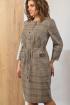 Платье Angelina 591 серый-бежевый