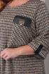 Платье Karina deLux B-281А серо-черный