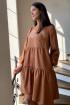 Платье Faufilure С1140 горчица
