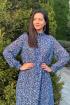 Платье Faufilure С1120 лео-голубой