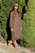 Платье Faufilure С1120 лео-коричневый