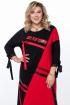 Платье Pretty 1185 черно-красный
