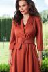 Платье Teffi Style L-1446 терракот