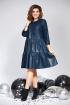 Платье Милора-стиль 822 синяя_кожа