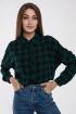 Рубашка Madech 202263 зеленый,черный