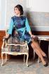 Платье Мода Юрс 2529 бирюза-синий
