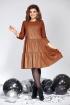Платье Милора-стиль 822 коричневая_кожа