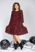 Платье Милора-стиль 827 бордо