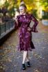 Платье Euromoda 311 бордовый