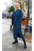 Платье Ivera 840 серо-синий
