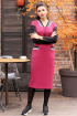 Платье Мода Юрс 2614 бордо-черный