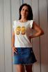 Блуза OLANTIZ БВ003 золотой_принт